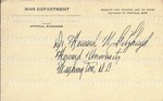 Wilkinson, Frederick D.  - 1945 (post card)