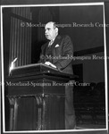 Dr. M.W. Johnson, Speaking in Chapel for United Negro College Fund Campaign, 1948