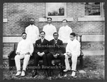 Dr. Warfield seated 2nd from left with Freedmen's Medics, 1907-08