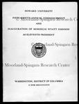 Dr. M.W. Johnson, Program of inaugural and 58th Commencement of the University