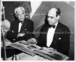 Dr. M.W. Johnson with Paul V. McNutt, Left (About 1939) Charter Day.