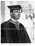 Dr. M.W. Johnson, 1940 Photo, (15yrs. at H.U), Bulletin, Jan. 1941 cover.