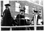 Dr. Franz Boas, right, Receiving Honorary Degree, 1937,L-R, Dean E.P. Daws, Pres. Johnson and Franz Boas, 1937