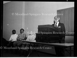 Dr. Augier presenting the Logan Lecture, 1980
