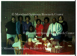 Abena Lewis and MSRC celebrating Abena Lewis' undergraduate graduation, 1999