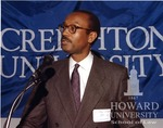 J. Clay Smith, Jr. receiving Outstanding Alumni  Award at Creighton Univ.