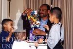 J. Clay Smith Jr. with unidentified children