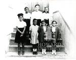 Allen Chapel AME Church, Omaha, Nebraska. Top: Jackie Alston, Beatrice Mosley (teacher), Marialyce Smith; Botton: Martha Carter, Valieria Alston, Jean and Jeanette Parker (twins)