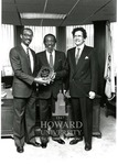 J. Clay Smith, Jr. with Dick Gregory and Jack Orleander (2 images)