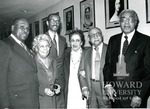 J. Clay Smith, Jr. with John Rupert Picott, Dorthy Porter, Mrs. Charles Wesley, S. Clay Smith Jr., Mrs. Louis Mehlinger, Louis Mehlinger, and Charles Wesley (3 images)