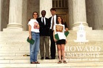 J. Clay Smith, Jr. with students at the Supreme Court