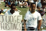 Howard University students protesting the impeachment of Judge Alcee Hastings (2/7)