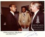 J. Clay Smith, Jr., Janus W. Dyke, Jr., and Vice President Walter Mondale