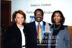 Alice Gresham Bullock, Dean at Howard Law, Johnnie L. Cochran and Cynthia Mobry,  Assoc. Dean at Howard Law