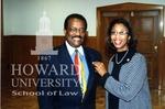 Johnnie L. Cochran and Cynthia Mobry, Assoc. Dean Howard Law