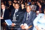 Prof. Kendall Thomas, Columbia Law, Prof. Derrick A. Bell, Jr. New York University Law School, and David W. Leebron, dean at Columbia Law School