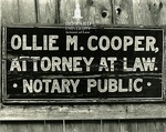 Photo of Ollie Mae Cooper's sign (2 duplicates)
