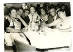 National Bar Association Dinner in Chicago: Left to right: Barbara Watts Goodall, James Atwell, Jr., Ollie May Cooper, Isadora Letcher, Lucia Theodosia Thomas, Richard E. Westbrooks, and Georgia Jones Ellis (NB: Except for Cooper and Letcher, all lawyers belong to the law firm of George W. Ellis and Richard E. Westbrooks [Ellis and Westbrooks])