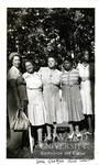 Left to right: Unidentified person, Isadora A. Letcher, Georgia Jones Ellis, Ollie Mae Cooper and Lucia T. Thomas