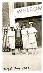 Left to right: Ollie Mae Cooper, unidentified person, Isadora Letcher and unidentified person