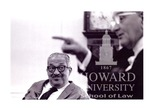 Thurgood Marshall with President L. B. Johnson in the White House