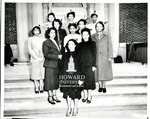 Female law students at Howard Law School in 1949: 1. Avril E. Brown, 2. Shirley E. Jones, 3. Charlie M. Lovett, 4. Julia P. Cooper, 5. Ida I. Stephens, 6. Wilanda M. Bradley, 7. Romal L. Turner, 8. Dovey I. Roundtree, 9. Leona Pouncey, 10. Peggy Strauss, and 11. Lucille J. Williams