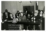 Anthony Kennedy, David Souter, Sandra Day O'Connor,Thurgood Marshall in Howard Moot Court Room
