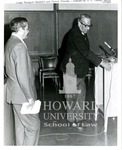 """Dedication of the Allen Mercer Daniel Law Library at Howard Univerity Law School: Prof. Elwood """"Chick"""" Chisholm and Thurgood Marshall"""
