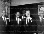 Benjamin E. Mays and Vice President Lyndon B. Johnson