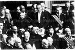With James Farley, behind Vice President Lyndon Johnson at Vatican City
