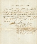 Cary, M.A.S. - Albany, Ind. Feb. 24, 1864. Authorization to obtain men for Connecticut volunteers