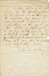 Shadd, W.G.- New Albany, Aug. 17, 1863 Authorization by M.A.S. Cary as recruiting agent