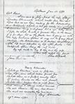 Ellicott, Elias, Letter.