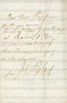 Ely, J. N., Letter.