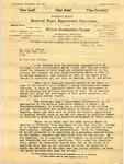 Garvey, Marcus, 1887-1940, Letter.