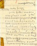 Gandhi, Mahatma, 1869-1948, Letter.