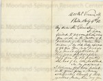 Purvis, Robert, Letter.