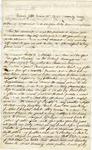 Williams, George Washington, Letter.