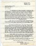 Garrison, Curtis W., Letter.