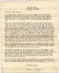 Robinson, E. P., Rev., Letter.