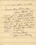 Sanborn, H. B., Letter.