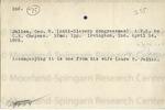 Julian, Laura E., Letter.