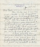 Gordon, William C., Letter.