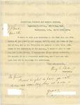 Baker, Henry E., Letter.