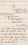 Fisk, Clinton B., Letter.