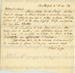 Cuffe, Paul, Letter.