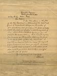 Lincoln, Abraham, Letter.