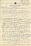 Gates, Hubert, Letter.