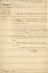 Hilaire, S., Letter.