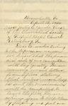 Bess, Rosa S., Letter.